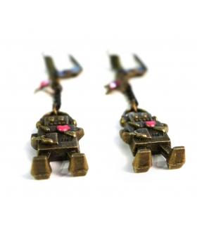 Boucles d'oreilles Robot