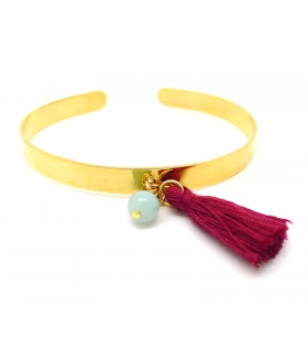 Burgundy Cuff bracelet - Boho jewels