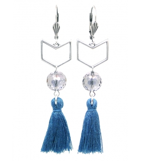 Denim Herringbone earrings