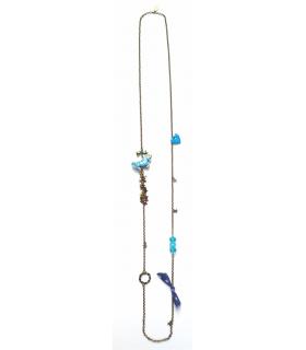 Blue Unicorn long necklace