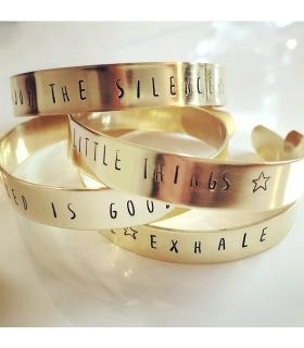 Bracelet message à personnaliser