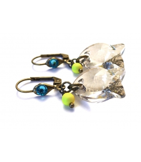 Boucles d'oreilles Flying Fish - Bijoux en  cristal