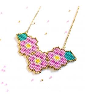Collier Miyuki Petites fleurs - Collier créateur - Les Bijoux Acidules