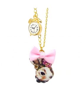 Collier I'm late - Alice in wonderland - Les Bijoux Acidules