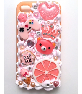 Coque Iphone 4/4s Pamplemousse - Coque kawaii decoden - Les Bijoux