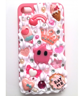 Coque Iphone 4/4s Etoile rose - Coque kawaii decoden - Les Bijoux