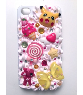 Coque Iphone 4/4s Pikachu - Coque kawaii decoden - Les Bijoux Acidules