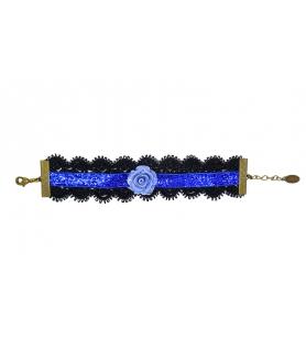 Bracelet gothique noir et bleu - Les Bijoux Acidules