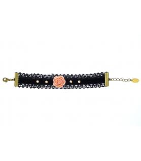 Bracelet gothique noir et vieux rose - Les Bijoux Acidules