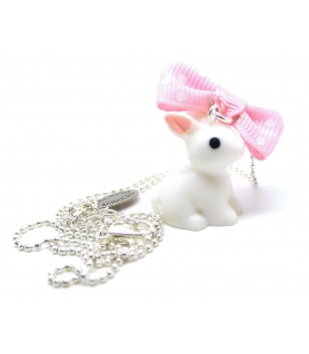 Collier White Rabbit - Bijoux Alice in wonderland - Les Bijoux