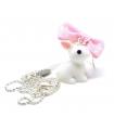 Collier White Rabbit - Bijoux Alice in wonderland - Les Bijoux