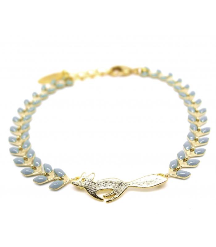 économiser 02341 3d329 Bracelet Renard Bleu gris