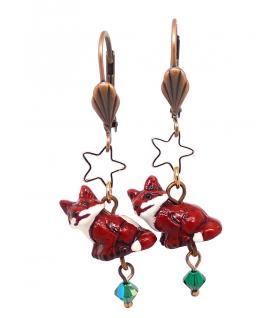 Boucles d'oreilles Renard - Les Bijoux Acidules