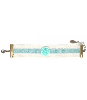 Bracelet rose bleue - Les Bijoux Acidules