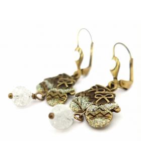 Boucles d'oreilles Boules de Neige - Les Bijoux Acidules
