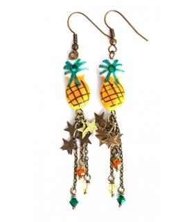 Boucles d'oreilles Pina Colada - Bijoux Ananas