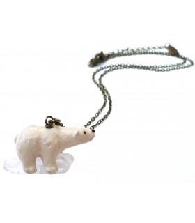 Collier Ours Blanc - Les Bijoux Acidules