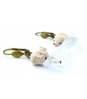 Boucles d'oreilles Ours Blanc - Les Bijoux Acidules