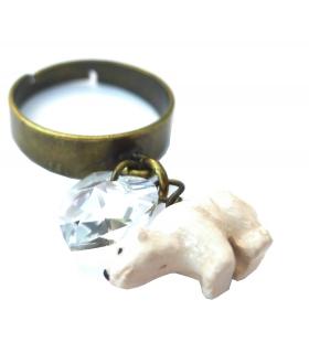 Bague Ours Blanc - Les Bijoux Acidules