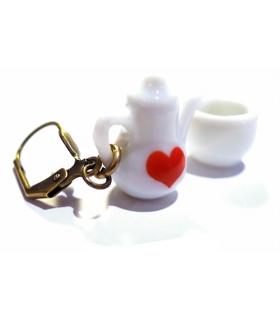 Boucles d'oreilles Tea Time - Bijoux créateur gourmands
