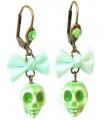 Boucles d'oreilles Santa Muerte vertes - Les Bijoux Acidules