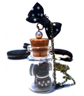 Sautoir Fiole Chocolat - Les Bijoux Acidules