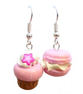Boucles Mignardises à la Rose - Bijoux créateur gourmands