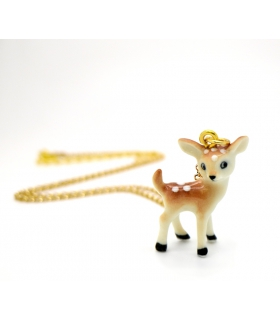 Tiny Deer porcelain necklace