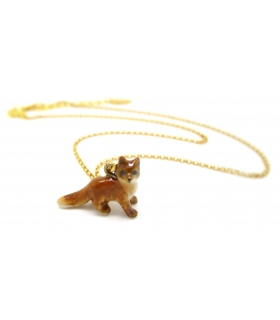 Tiny Fox porcelain necklace