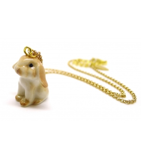 Tiny Bunny porcelain necklace
