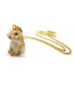 Collier Petit Lapin - Bijoux en porcelaine - Bijoux Animaux - Les Bijoux Acidules