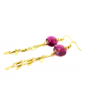 Burgundy Boho Chic earrings