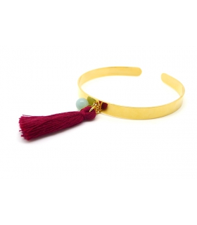 Burgundy Cuff bracelet - Boho jewels