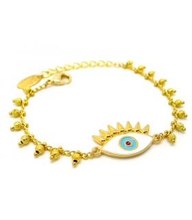 Bracelet Oeil Porte-Bonheur - Bijoux boho chic - Les Bijoux Acidules