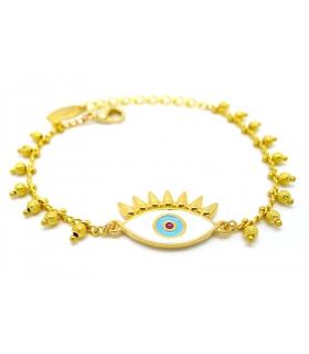 Gold Eye Bracelet