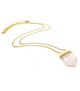 Collier mi-long Quartz - Bijoux Bohème - Les Bijoux Acidules