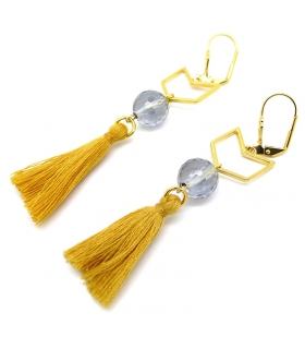 Mustard Herringbone earrings