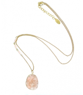 Light pink Druzy pendant