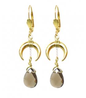 Boucles d'oreilles Croissant de Lune - Bijoux bohème - Les Bijoux Acidules