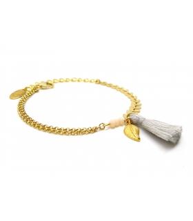 Bracelet Boho Gris Perle - Bijoux Bohème  - Les Bijoux Acidules