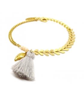 Light Grey Boho bracelet