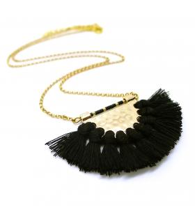 Licorice Tassel necklace