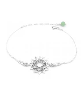 Bracelet Chakra du Coeur en Argent 925 - Bijoux yoga et méditation - Les Bijoux Acidules