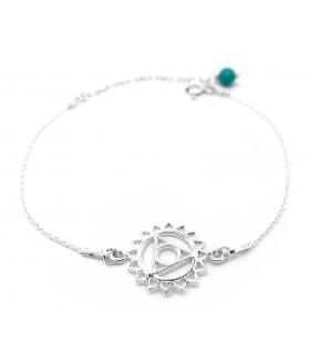 Bracelet Chakra de la Gorge Argent 925 - Les Bijoux Acidules