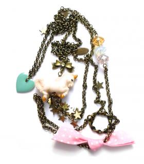 White Unicorn long necklace