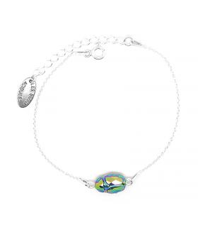Bracelet Grigri Scarabée argent 925 - Bijoux boho chic - Les Bijoux Acidules