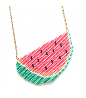 Collier Miyuki Watermelon - Les Bijoux Acidules