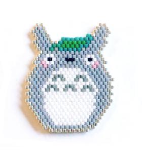 Broche Totoro Miyuki - Les Bijoux Acidules - Broche brickstitch