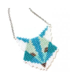 Collier Renard bleu Miyuki - Les Bijoux Acidules