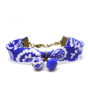 Bracelet Liberty Porcelaine bleue - Les Bijoux Acidules